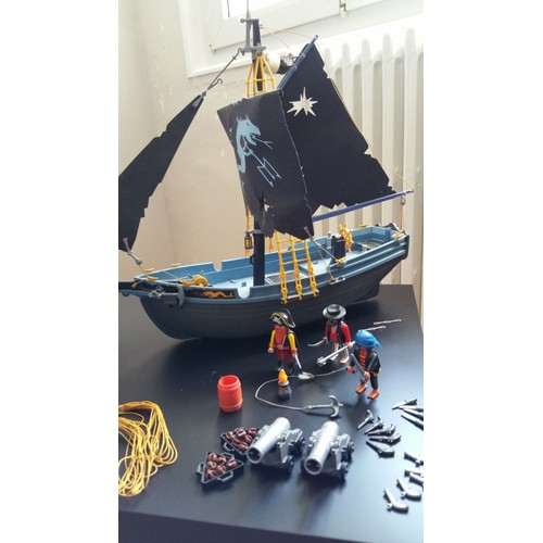 playmobil 3860 bateau pirate voiles dragon achat et vente. Black Bedroom Furniture Sets. Home Design Ideas