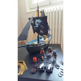 playmobil 3860 bateau pirate voiles dragon achat et vente. Black Bedroom Furniture Sets. Home Design Ideas