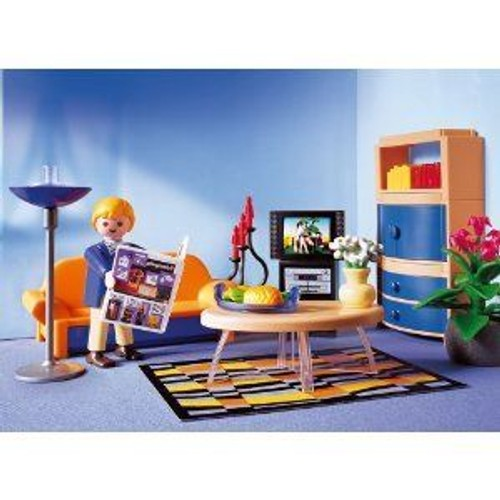 Playmobil 3966 salon moderne achat et vente for Salon playmobil