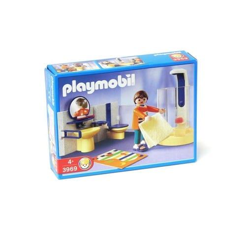 Playmobil 3969 salle de bain avec douche achat et vente for Salle de bain avec baignoire playmobil
