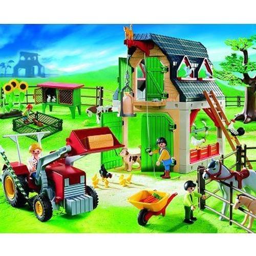 playmobil 4066 ferme avec tracteur neuf et d 39 occasion. Black Bedroom Furniture Sets. Home Design Ideas
