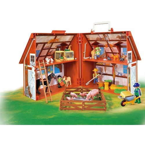 playmobil 4142 ferme transportable neuf et d 39 occasion. Black Bedroom Furniture Sets. Home Design Ideas