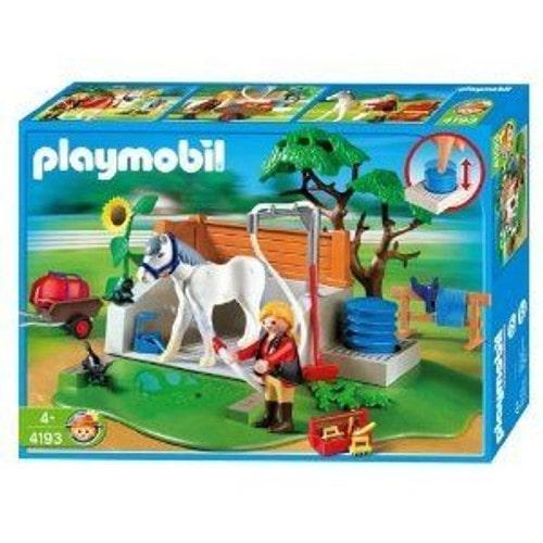 playmobil 4193 box de lavage pour chevaux achat et vente. Black Bedroom Furniture Sets. Home Design Ideas