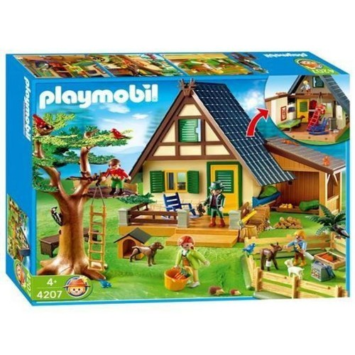 playmobil 4207 famille animaux maison foresti re. Black Bedroom Furniture Sets. Home Design Ideas