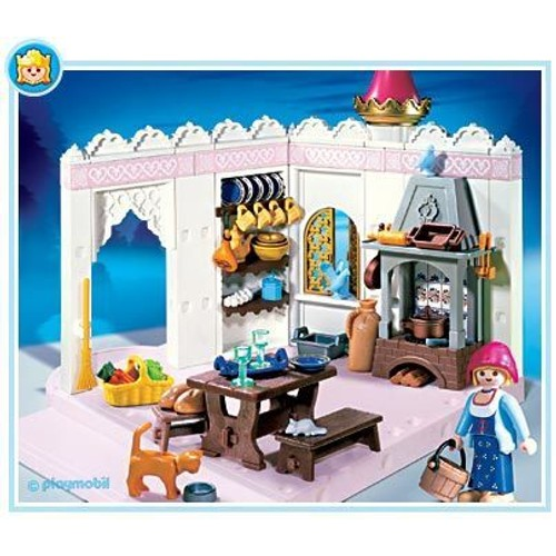 Playmobil 4251 cuisine du chateau extension 4250 neuf et d for Chateau playmobil 4250