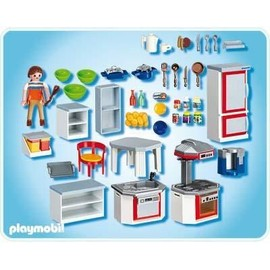 playmobil 4283 cuisine quip e achat et vente. Black Bedroom Furniture Sets. Home Design Ideas