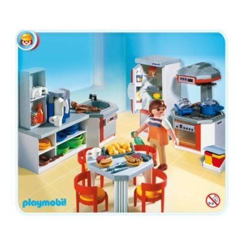 Playmobil 4283 cuisine quip e achat et vente for Playmobil cuisine