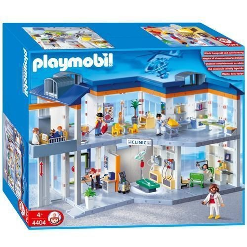 playmobil 4404 grand h pital achat vente de jouet. Black Bedroom Furniture Sets. Home Design Ideas