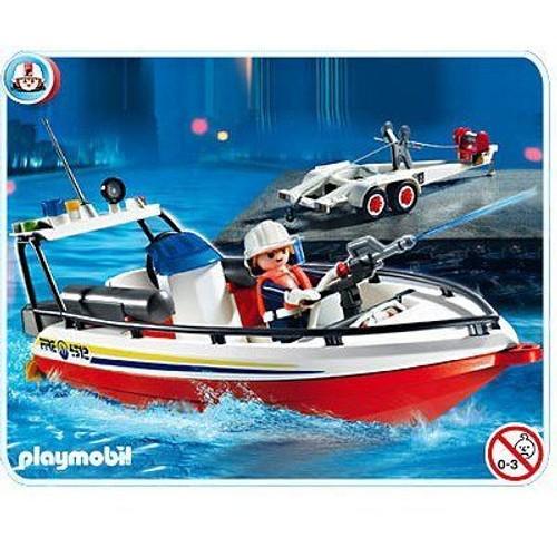 playmobil 4823 bateau de pompier neuf et d 39 occasion. Black Bedroom Furniture Sets. Home Design Ideas