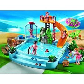 Playmobil 4858 piscine avec toboggan achat et vente for Prix piscine playmobil