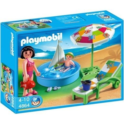 Playmobil 4864 pataugeoire achat vente de jouet for Prix piscine playmobil