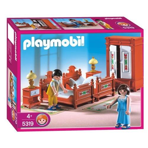Playmobil 5319 parents et chambre traditionnelle achat for Playmobil chambre parents