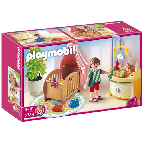 Playmobil 5334 chambre de b b avec berceau neuf et d for La maison des bebes
