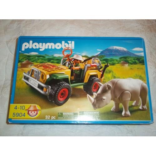 Playmobil 5904 jeep du ranger dans la savane achat et vente - Playmobile savane ...