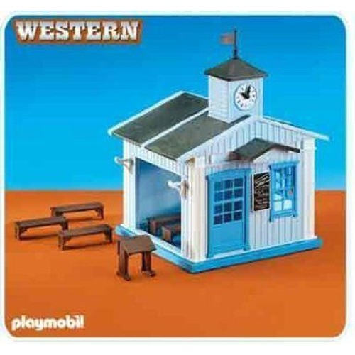 playmobil 6279 ecole far west neuf et d 39 occasion sur. Black Bedroom Furniture Sets. Home Design Ideas