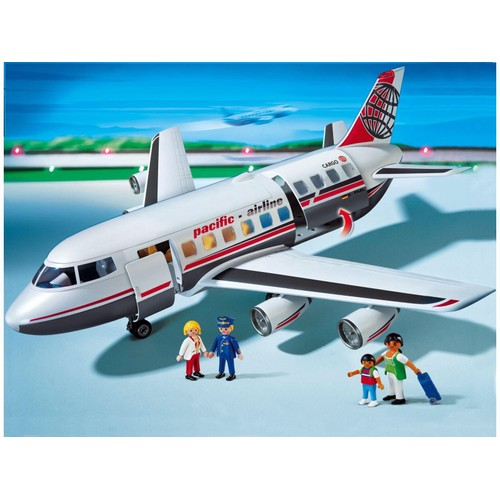 playmobil avion de ligne cargo pacific airline neuf et d. Black Bedroom Furniture Sets. Home Design Ideas