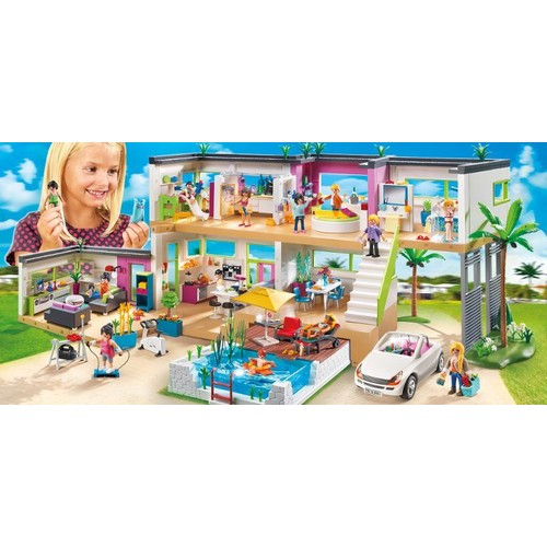 Beautiful maison moderne de luxe playmobil ideas awesome for Piscine playmobil