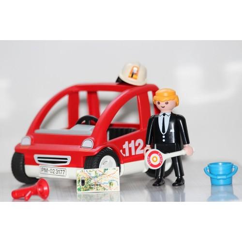 playmobil petite voiture de pompier neuf et d 39 occasion. Black Bedroom Furniture Sets. Home Design Ideas