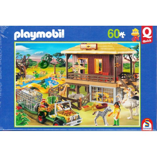 playmobil puzzle safari 60 pices pocket quick