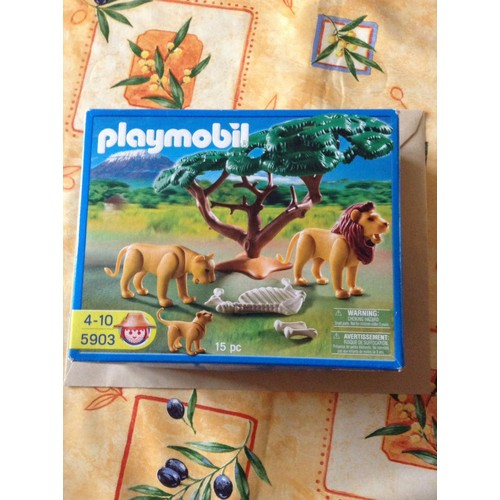 playmobil savane 5903 la famille lion