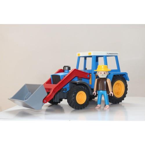 playmobil tracteur de la ferme bleu neuf et d 39 occasion. Black Bedroom Furniture Sets. Home Design Ideas
