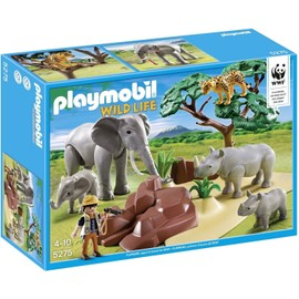 Playmobil Wild Life 5275 Version Us - Animaux De La Savane Avec Photographe