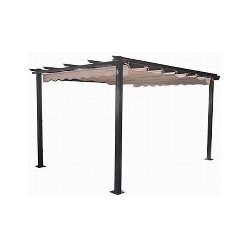 plicosa m279707 pergola en aluminium avec toit coulissant. Black Bedroom Furniture Sets. Home Design Ideas