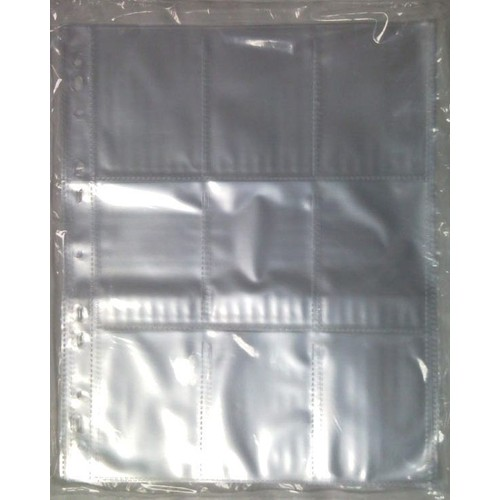 pochettes 10 feuilles plastique a4 de 9 cases pour cartes. Black Bedroom Furniture Sets. Home Design Ideas