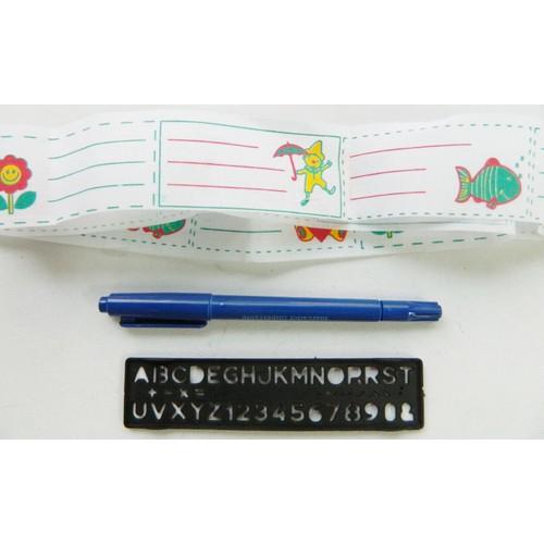 Pochoir stylo chiffres et lettres pour marquages - Comment enlever du stylo sur du tissu ...