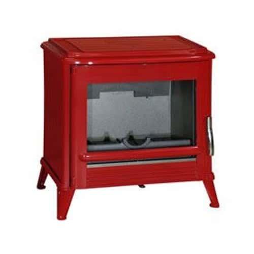 po le bois en fonte modena emaill rouge pas cher rakuten. Black Bedroom Furniture Sets. Home Design Ideas