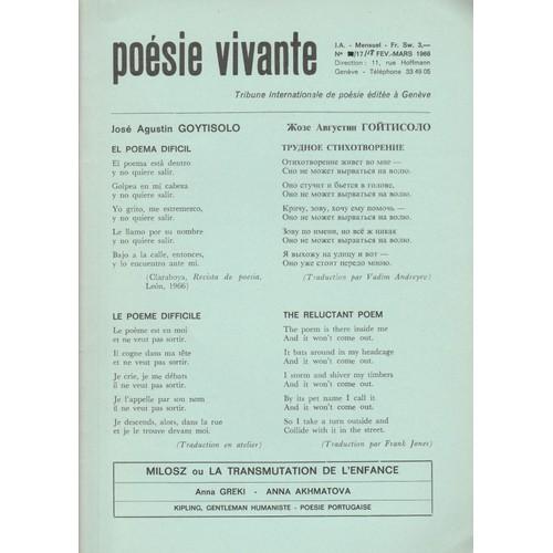 Poésie Vivante N 17 18 Février Mars 1966 De Divers Rakuten