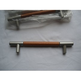 Poignee de porte meuble chene chrome mat design 180mm pas cher - Poignee de meuble pas cher ...