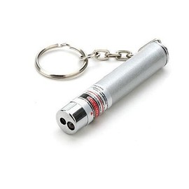 Pointeur Laser 3 En 1 Laser Rouge 1mw / Lampe De Poche Led / Porte Cl�