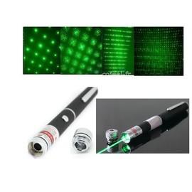 Pointeur laser vert 1mW 2-en-1 avec effet stoboscope