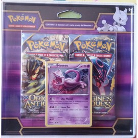 pokemon duo pack mewtwo 2 boosters origines antiques 1 carte mewtwo promo. Black Bedroom Furniture Sets. Home Design Ideas