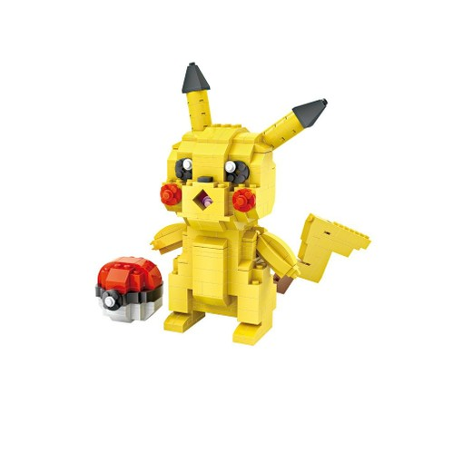 pok mon go figurine en lego construire pikachu pokeball 15 cm x 13 cm. Black Bedroom Furniture Sets. Home Design Ideas