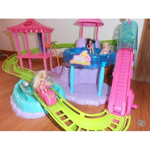 polly pocket le manege avec piscine voiture 3 poupees