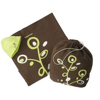 bd14c979e31b Porte Bébé Écharpe À Nouer Chocolat Vert Babymoov pas cher - Rakuten
