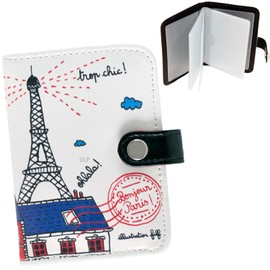 porte cartes de fid lit bonjour paris motif tour eiffel. Black Bedroom Furniture Sets. Home Design Ideas