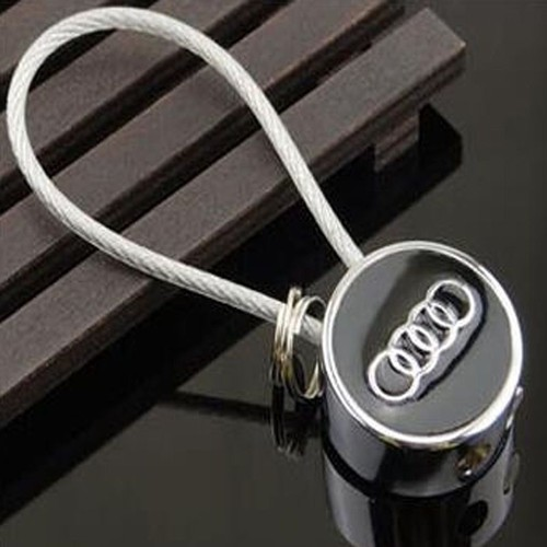 porte cl clef clefs audi logo cordon acier priceminister rakuten. Black Bedroom Furniture Sets. Home Design Ideas