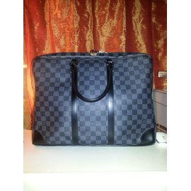 Porte-Documents Voyage Damier Graphite