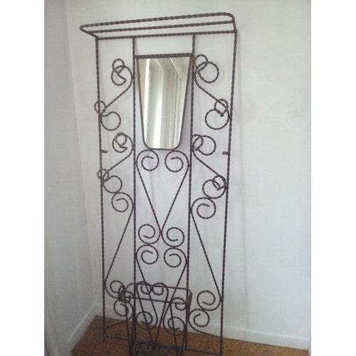 porte manteau vintage en fer forg achat et vente priceminister rakuten. Black Bedroom Furniture Sets. Home Design Ideas