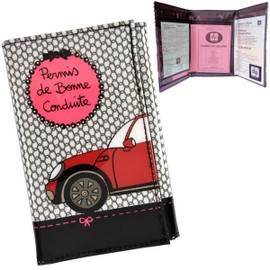 porte papiers voiture permis de bonne conduite rose conduire tui prot ge protection pochette. Black Bedroom Furniture Sets. Home Design Ideas