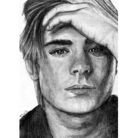 Portrait Dessin Au Crayon De Zac Efron - portrait-dessin-au-crayon-de-zac-efron-906485959_ML