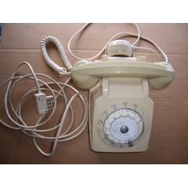 Poste de t l phone cadran de collection couleur - Telephone fixe avec prise jack ...