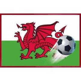 poster encadr football le dragon rouge drapeau du pays de galles 61x91 cm cadre plastique rouge