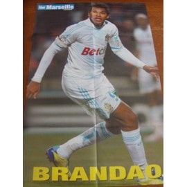 Poster Football Brandao Olympique De Marseille Verso Alou Diarra