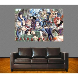 poster g ant fairy tail l 39 quipe de fairy tail manga 84x118 cm format a0. Black Bedroom Furniture Sets. Home Design Ideas