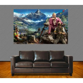 poster g ant far cry 4 pagan min jeux videos 118x84 cm. Black Bedroom Furniture Sets. Home Design Ideas