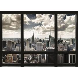 Poster new york skyline vue d une fen tre achat et vente for Building sans fenetre new york